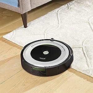 iRobot Roomba 691- Robot aspirador para suelos duros y alfombras, con tecnología Dirt Detect, sistema de limpieza en 3 fases, con conexión wifi, programable por app y compatible con Alexa: Amazon.es: Hogar