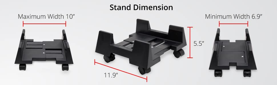 stand dimension size