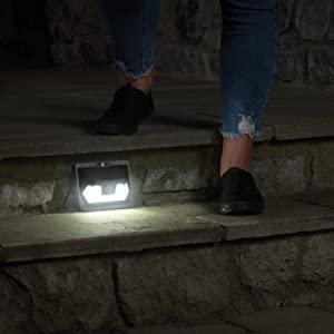 mr beams solar wedge light, solar powered step light, wireless solar led outdoor motion light