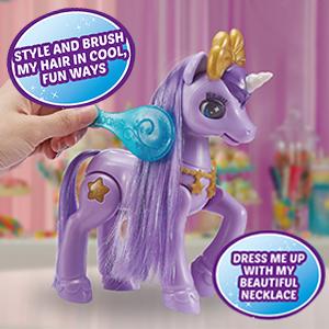 brush hair, unicorn, wow, soft hair