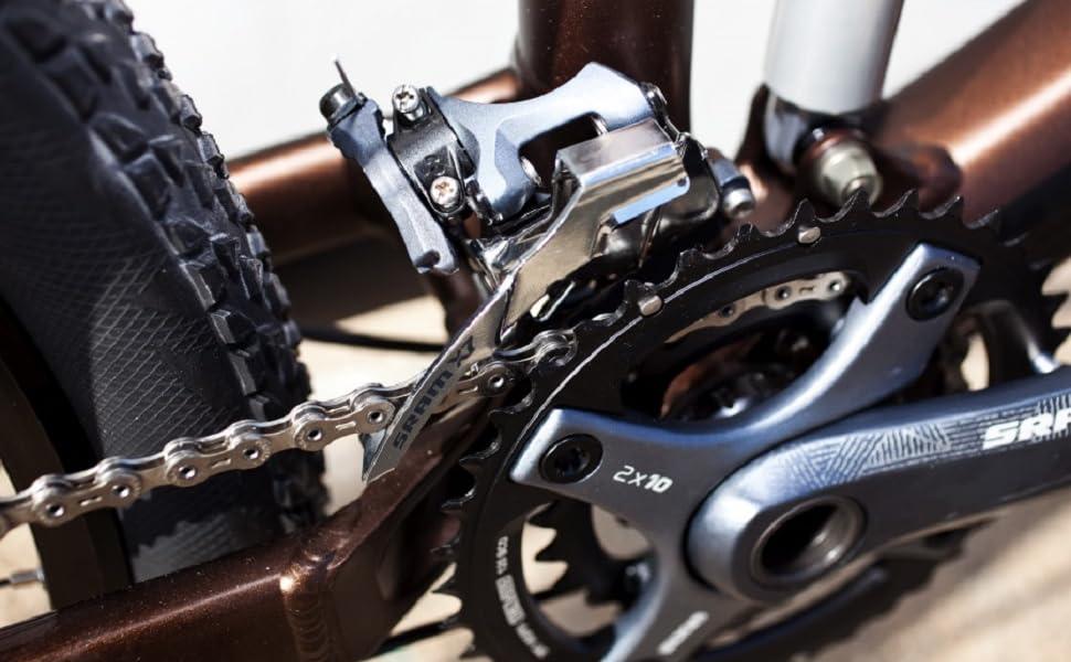 SRAM X7 2x10 High DM Compact Front Derailleur 38//36T Top Pull by SRAM