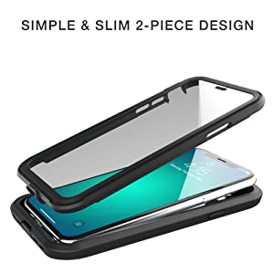simple and slim 2 piece design