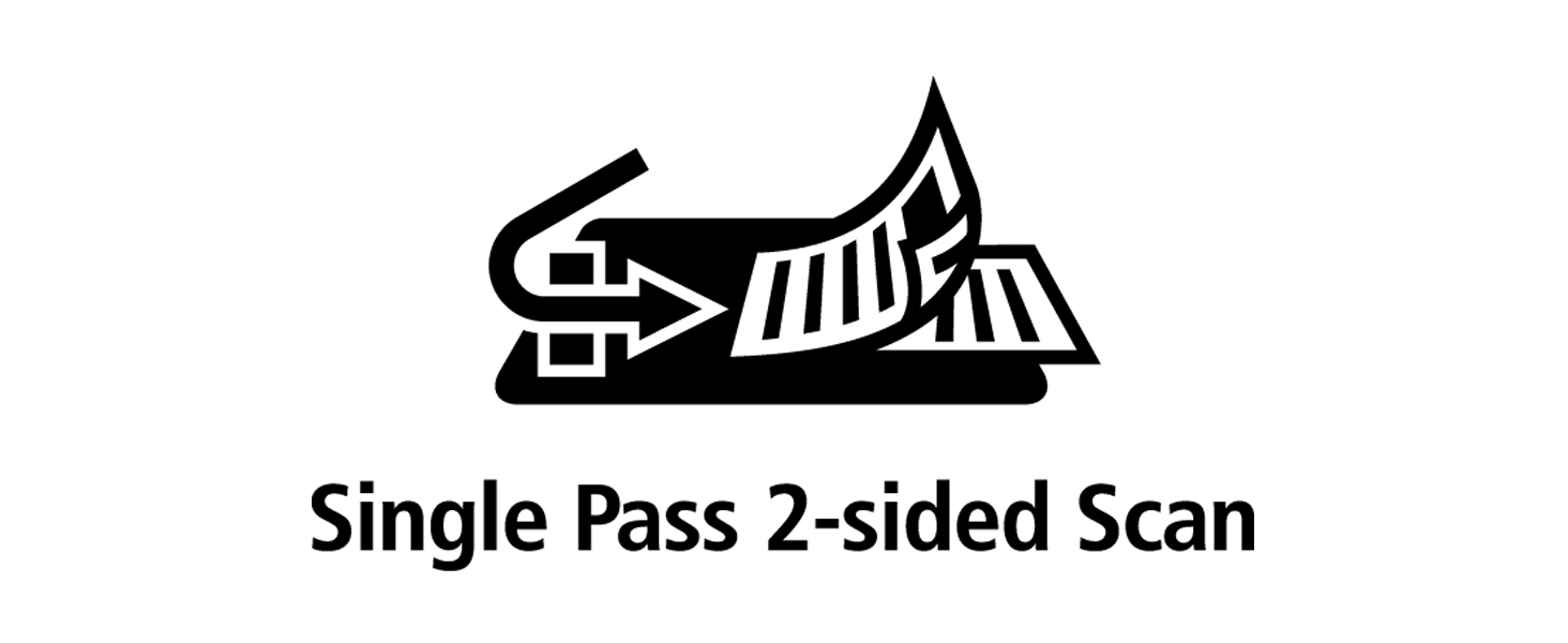 single pass scan, scan one time, one pass, one pass scan, 2 sided scan, two side scan, double sided