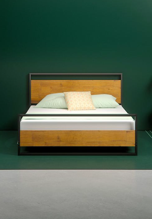 Amazon Com Zinus Suzanne 6 Inch Platform Bed Without