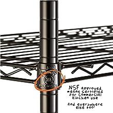 5-tier adjustable shelving unit