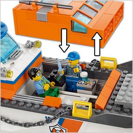 Lego City Coast Guard Coast Guard Head Quarters Building Kit