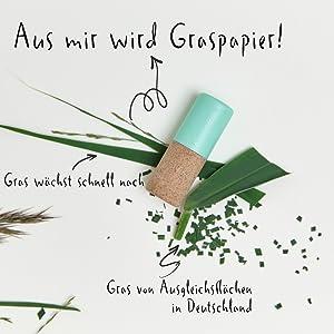 Graspapier für Kneipp Lippenpflege