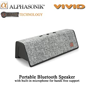 vivid alphasonik bluetooth speaker loud music bass drivers tune travel portable