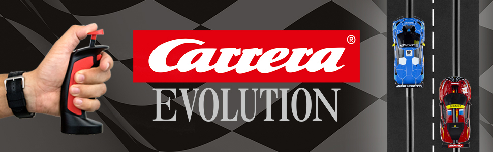 Carrera Evolution Analog 1:32 Scale Electric Slot Car Racing Track System Sets