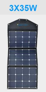 Acopower 105 Watt Foldable Solar Panel Kit