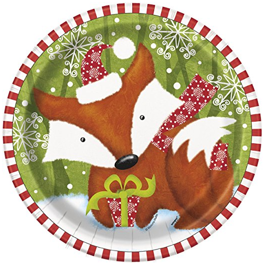 Woodland Christmas Dinner Plates 8ct ...  sc 1 st  Amazon.com & Amazon.com: Woodland Christmas Dinner Plates 8ct: Kitchen u0026 Dining