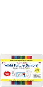 wikki stix, senior activities, activities for seniors, senior crafts