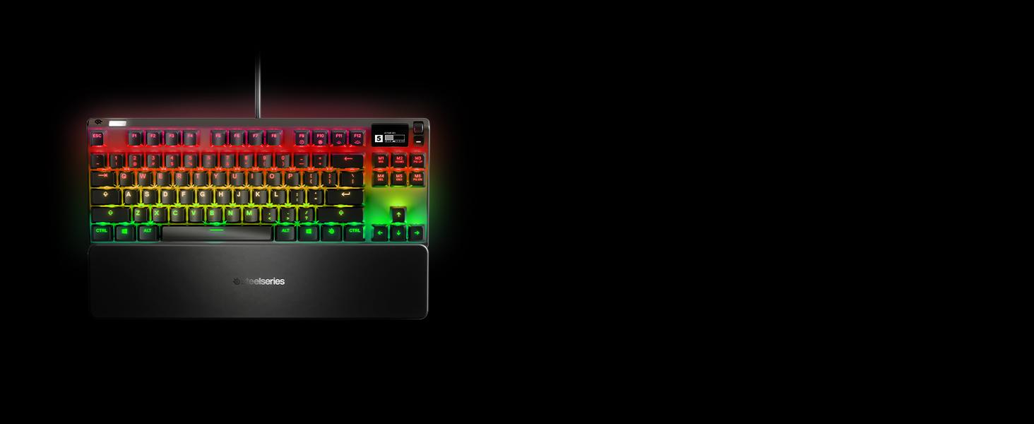 SteelSeries Apex Pro TKL Compacto Teclado mecánico para Gaming Teclas mecánicas de actuación Ajustable Smart Display con OLED Teclado nórdica QWERTY