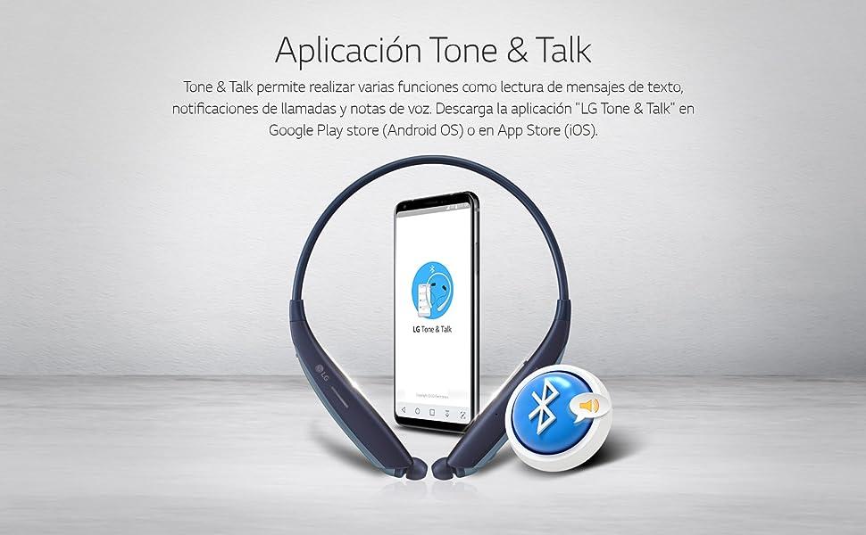 LG Tone HBS-835S - Auriculares con Altavoz Externo (Sonido JBL, Bluetooth 5.0, Doble micrófono MEMS, Auriculares retráctiles, Tone & Talk, Advanced Quad Layer) Color Negro: Amazon.es: Electrónica