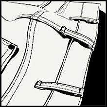Wrangler Allover Kabel Buckle Cintur/ón para Hombre