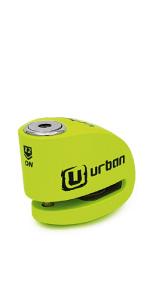 urban security, antirrobo, moto, alarma, disco, scooter, seguridad, candado, urban ur906x