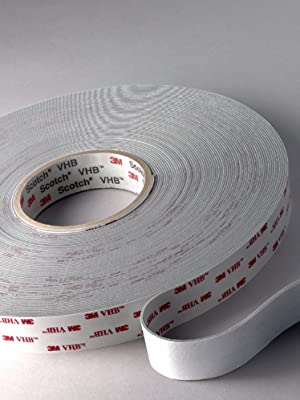 Length 3M TapeCase 2-5-4945 VHB Tape 4945 2 Wide 5 yd White