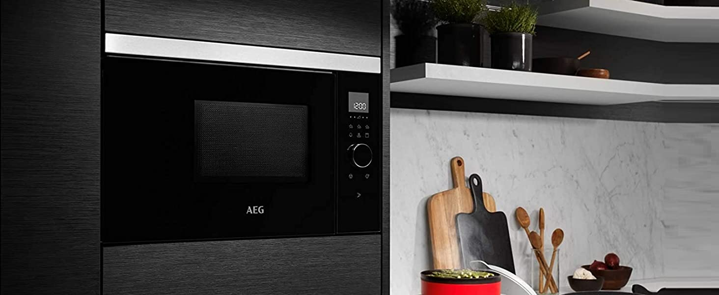 AEG MBE2657DEM Microondas Integrable con Grill de 800W, Display ...