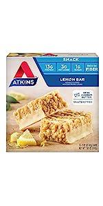 atkins snack bar lemon low carb keto friendly