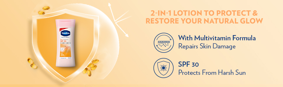 Vaseline Sun + Pollution Protection SPF 30 Body Lotion, 100 ml