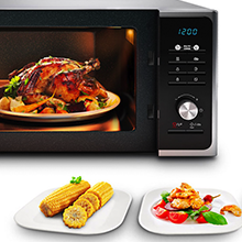 23L Solo Microwave MS23F301TAK, Samsung's innovative Triple Distribution system