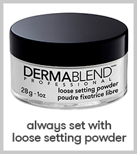 dermablend setting powder face powder loose setting powder