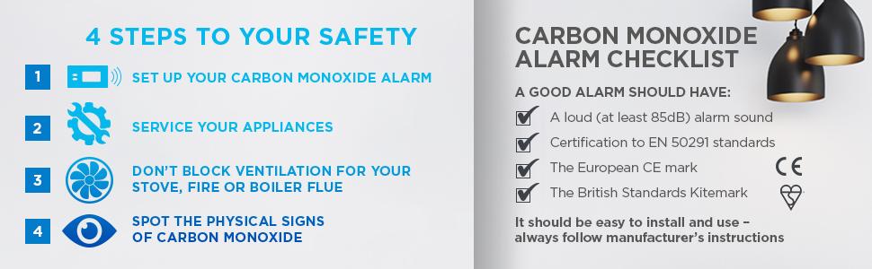 Safety, Steps, Carbon Monoxide, CO, Kidde