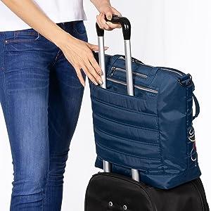 bag with trolley sleeve, bag for luggage, overnight bag, weekender bag