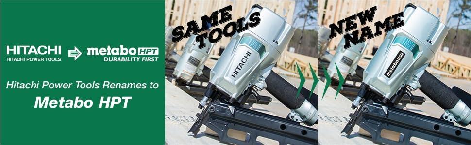 Hitachi Power Tools, Metabo HPT, nail gun, framing nailer, finish nailer, pin nailer, brad nailer