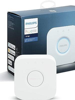 Philips Hue Puente de Conexión Controlable vía WiFi, Iluminación Inteligente, Compatible con Alexa y Google Home: Amazon.es: Iluminación