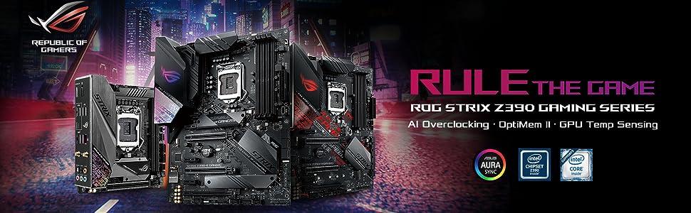 Asus ROG Strix Z390-E Gaming Motherboard LGA1151 (Intel 8th 9th Gen) ATX  DDR4 DP HDMI M 2 USB 3 1 Gen2 802 11AC Wi-Fi