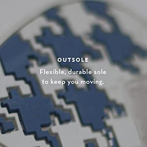Flexible, durable outsole