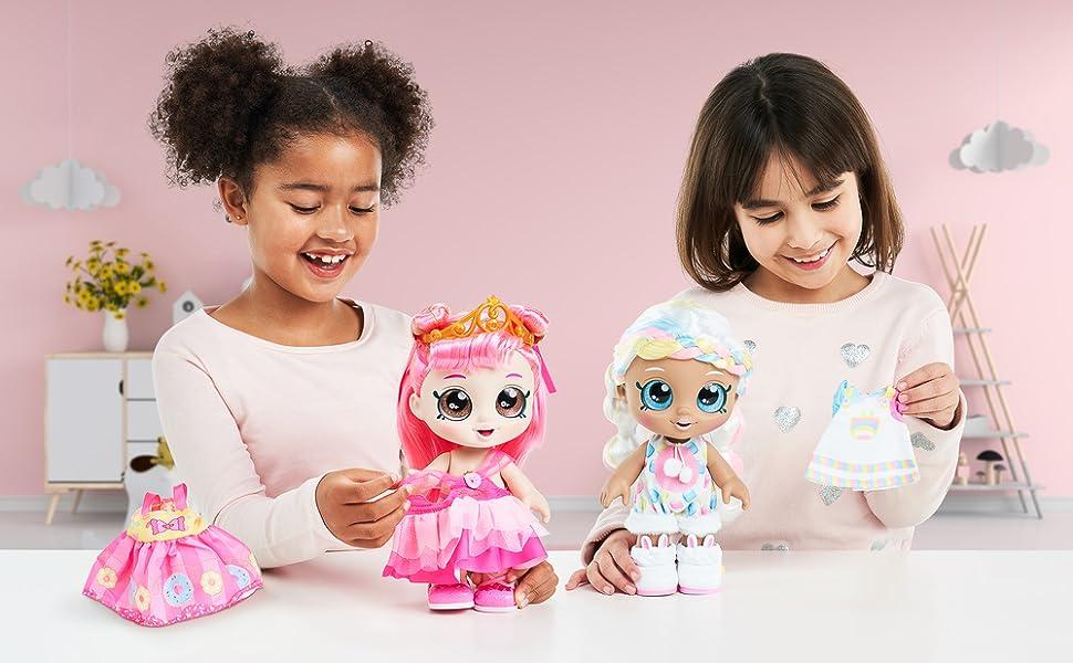 Donatina Princess Kindi Kids Dress Up Friends 10 Inch Doll with 2 Outfits