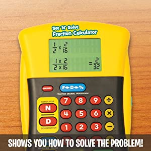 Educational Insights See 'N' Solve Fraction Calculator