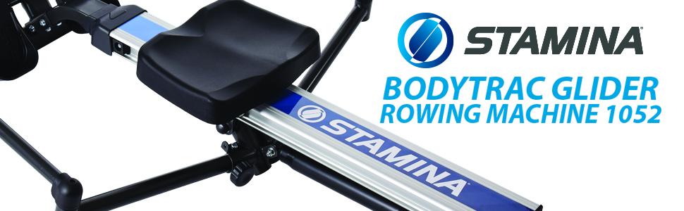 stamina, bodytrac, glider, rowing machine, 1052 rower