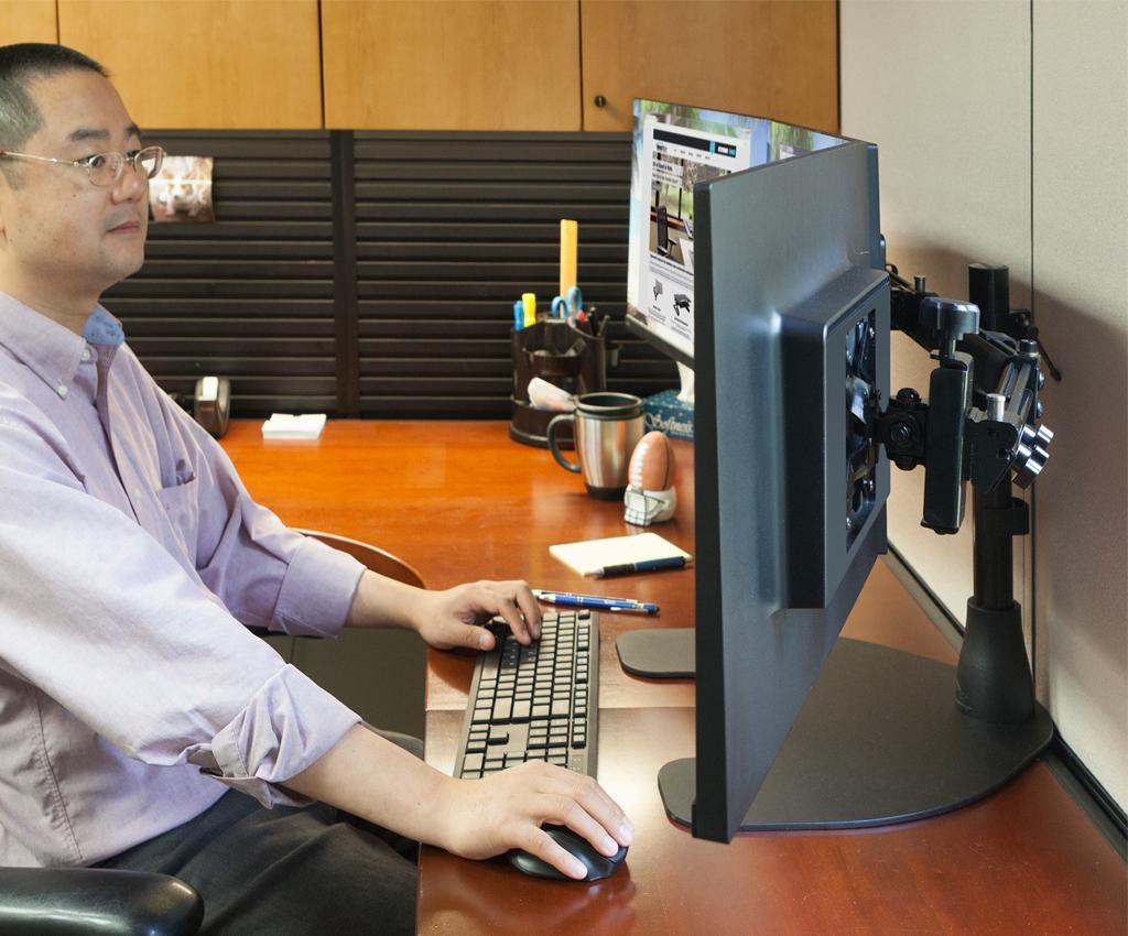 Amazon Com Ergotech Triple Lcd Monitor Desk Mount Stand