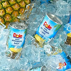 Dole Juice, Pineapple, 6 Ounce Can