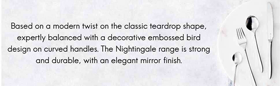 Viners Nightingale 18/0 16 Piece Cutlery Set Stainless Steel 4 Settings Knives Forks Spoons Flatware