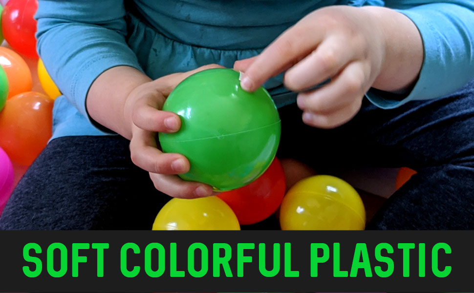 Franklin Sports Ball Pit Balls 100 pack BPA Free Phthalate Free 6 Colors Included With A Reusable Mesh Drawstring Bag Crush Proof Non-PVC Plastic