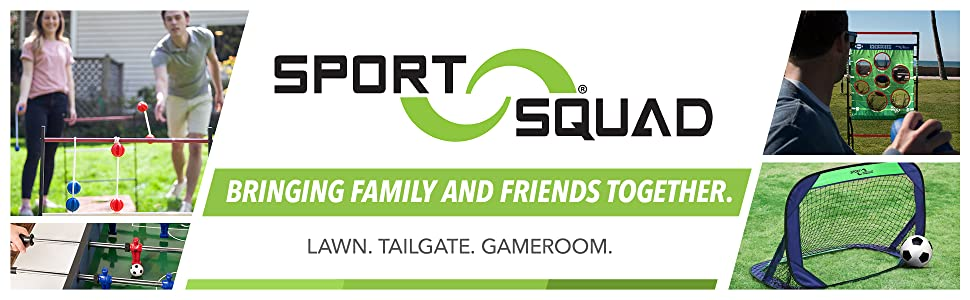 Sport Squad bringing family friends together lawn tailgate gameroom