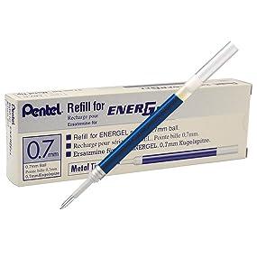 Pentel LR7-CX Nachfüllmine für EnerGel-Stifte 07 mm Kugelspitze blau 12 Stück