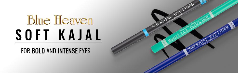 Soft Kajal Eyeliner, Soft Kajal Black, Soft Kajal Blue, Soft Kajal Green, Black Kajal, Eyeliner