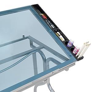 art supply storage, tabletop storage, organizer, craft table side tray,