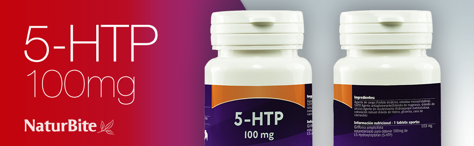Naturbite 5-Htp 100Mg. 60Comp. 200 ml: Amazon.es: Salud y cuidado ...