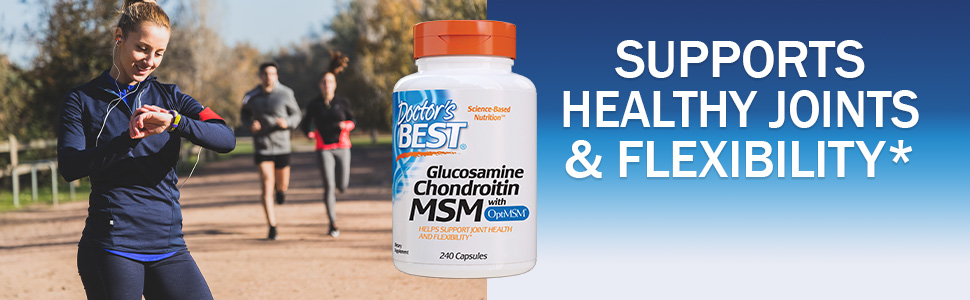 glucosamine chondroitin msm with optiMSM joint flexibility