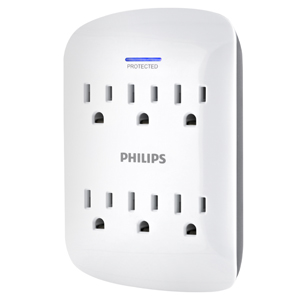 6 outlet surge protector wall tap adapter outlets