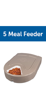 5 meal feeder cats dogs