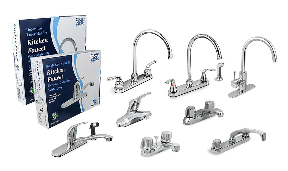 Everflow 17188 Kitchen Faucet with Spray, High Arc Swivel