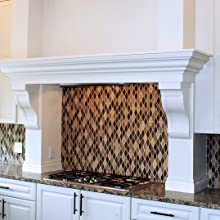 painted urethane corbels, painted brackets, kitchen corbels