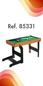 ColorBaby - Mesa billar americano plegable CBGames (85331): Amazon ...